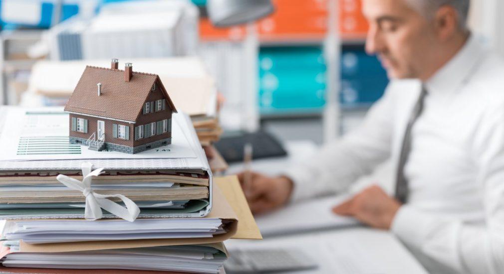 Man preparing a construction to permanent loan
